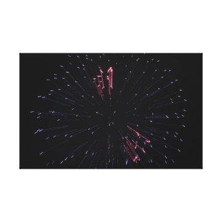 Fading Firework Canvas Print