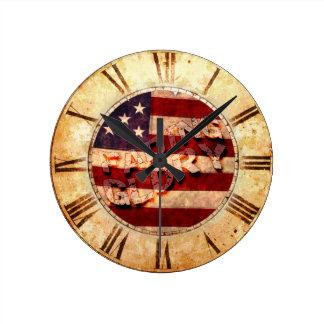 Fading Glory Round Wall Clock