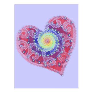 Fading Heart Blank Postcard