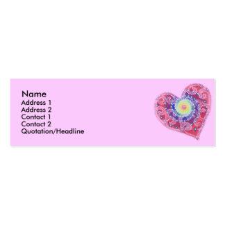 Fading Heart Profile Card Business Card Templates