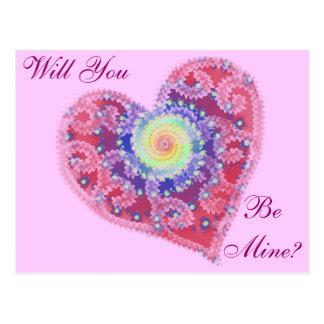Fading Heart Valentine's Day Postcard