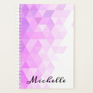 Fading Purple Geometric Triangle Pattern Planner