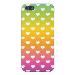 fading rainbow hearts pattern cover for iPhone 5