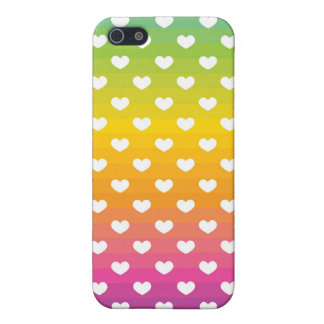 fading rainbow hearts pattern iPhone SE/5/5s cover