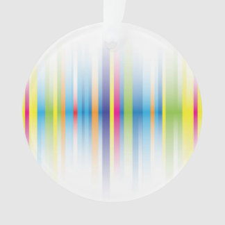 Fading Rainbow Lines Ornament