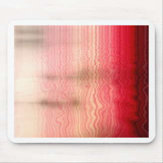 Fading Red Waves Mouse Pad