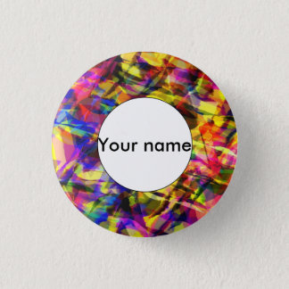 Fading shapes colorful abstract design pinback button