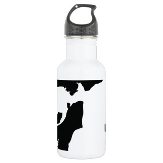 fading skull 18oz water bottle