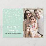 Fading Snowflakes holiday greeting photocard