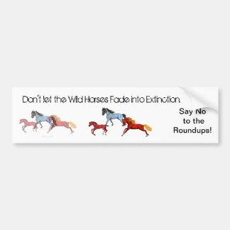 Fading Wild Horses Bumper Sticker Car Bumper Sticker