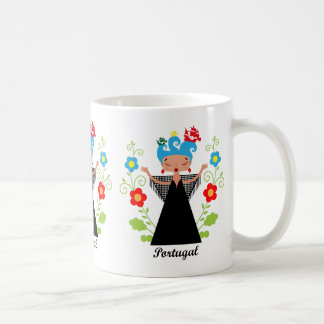 Fado Portuguese singer and ships Coffee Mug