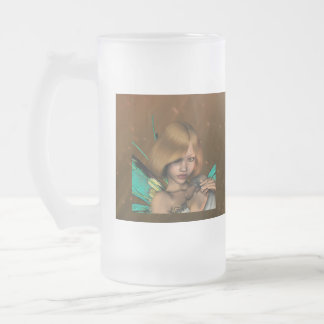 fae-5 16 oz frosted glass beer mug