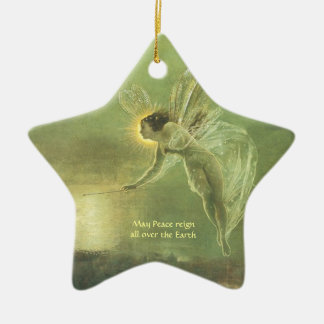 Fae - Fairy Angle Star shape Christmas Ornemant Ceramic Ornament