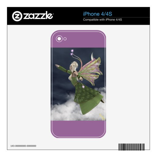 Fae in Sky Skin for Electronics Decals For iPhone 4