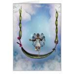 Fae on Swing Greeting Cards