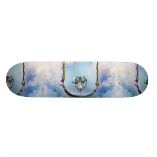 Fae on Swing Skateboards