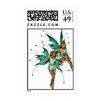 Fae Pair Postage Stamp