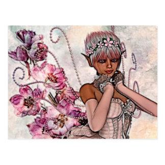 Fae Rose Fantasy Art Postcard