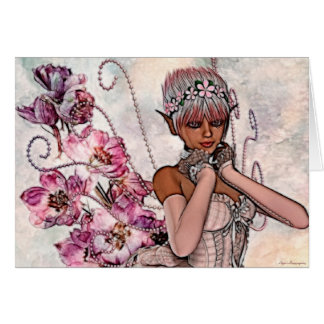 Fae subió el arte Notecard Tarjeta Pequeña