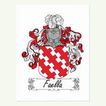 Faella Family Crest Postcard