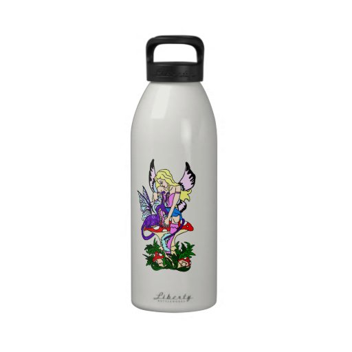 Faerie and Pseudo Dragon Drinking Bottle