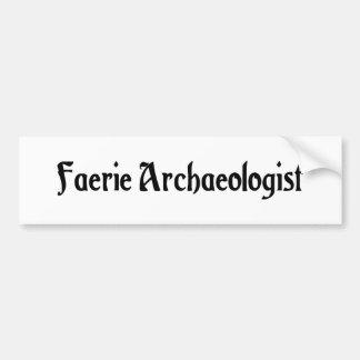 Faerie Archaeologist Bumper Sticker Car Bumper Sticker