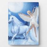 Faerie Asparas del cielo y unicornio Placas De Plastico