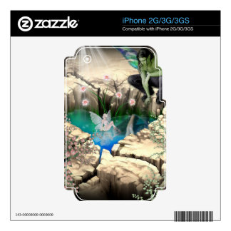 Faerie at Elven Pond Zazzle Skin Decals For iPhone 3GS