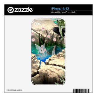 Faerie at Elven Pond Zazzle Skin Decal For iPhone 4