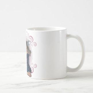 Faerie azul taza básica blanca