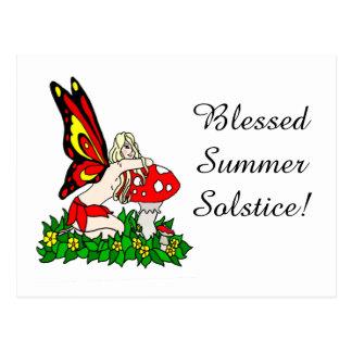 Faerie bendecido del solsticio de verano postales