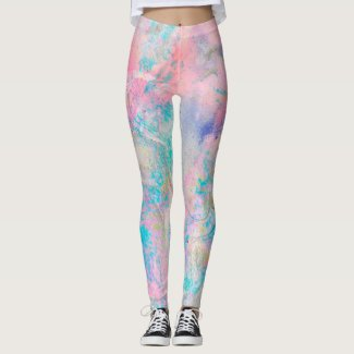 Faerie: Blue Haze, Pink Flare, Oyster & Turquoise Leggings