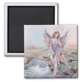 FAERIE BUBBLES by SHARON SHARPE 2 Inch Square Magnet