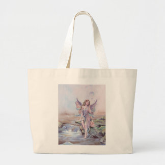 FAERIE BUBBLES by SHARON SHARPE Large Tote Bag