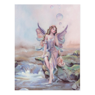 FAERIE BUBBLES by SHARON SHARPE Postcard