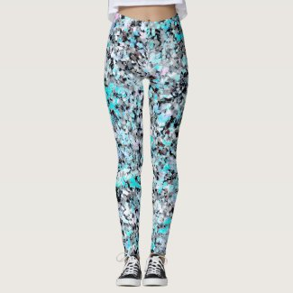 Faerie: Carbon, Lavender, Seafoam and Ice Leggings