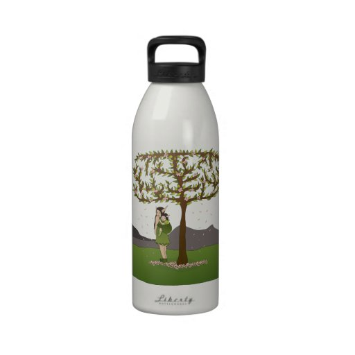Faerie Carrying Her Baby in a Wrap Drinking Bottle