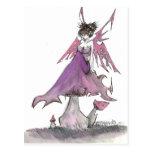 faerie color de rosa postal
