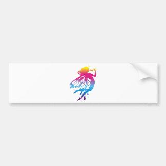 Faerie con colores hermosos etiqueta de parachoque