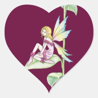 Faerie de Greenleaf - pegatinas Calcomanía Corazón Personalizadas