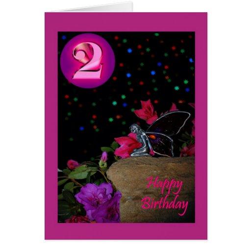 Faerie de hadas 2 del feliz cumpleaños 2do dos seg felicitacion