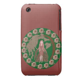 Faerie del cuarzo color de rosa carcasa para iPhone 3