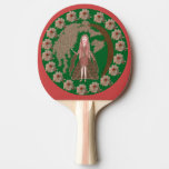 Faerie del cuarzo color de rosa pala de ping pong