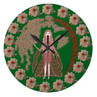 Faerie del cuarzo color de rosa reloj