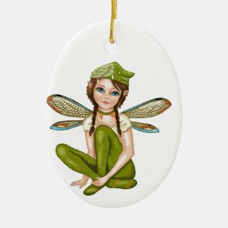 Faerie, Fairy, Elf child, coffee cup Ceramic Ornament