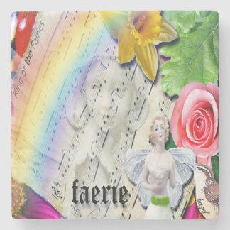 Faerie, Fairy, Original Art Marble coasters