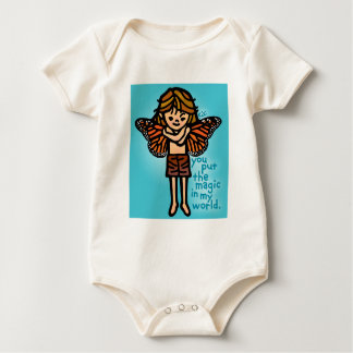 faerie fashion for baby. baby bodysuit