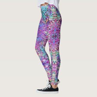 Faerie: Hot Pink, Aqua,Violent Violet, & Clamshell Leggings