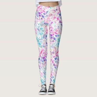 Faerie: Hot Pink, Lily, Regent Blue & Wistful Leggings