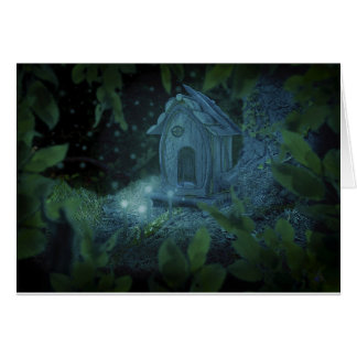 Faerie House Fae Pagan Greeting Card
